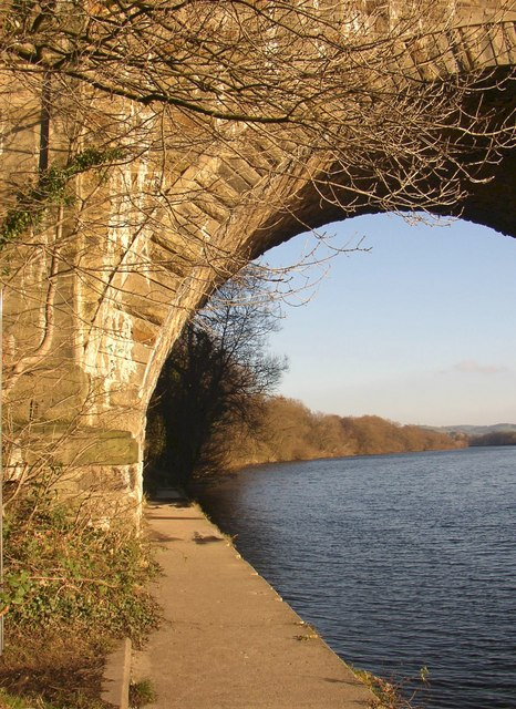 Path under the Lune Aqueduct, Halton