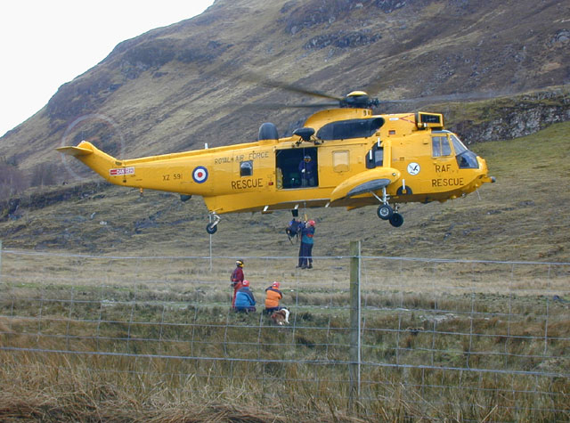 Mountain rescue practice at Morvich
