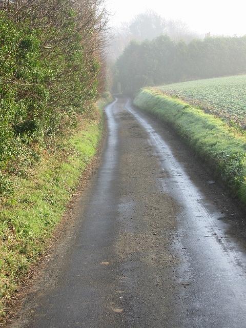 Popsal Lane on a misty morning