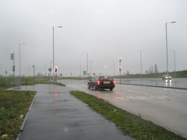 Wet and windy roundabout