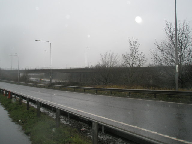 Approach to A27 from Broadmarsh Roundabouts
