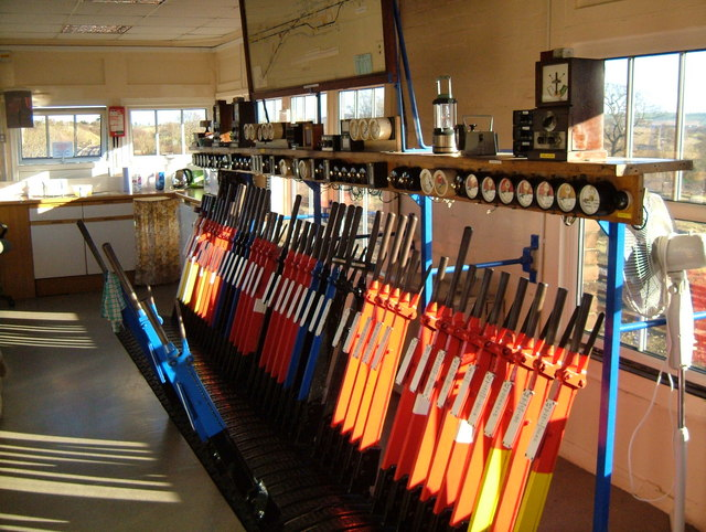 Inside Yeovil Junction Signal Box