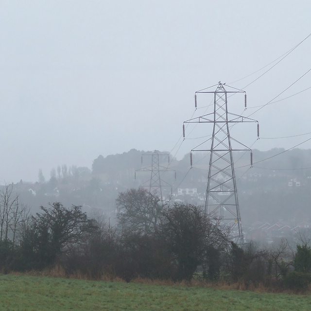 Power Lines on a dull Christmas Day