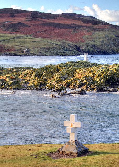 The Thousla Cross, Kitterland, Thousla Rock and the Calf
