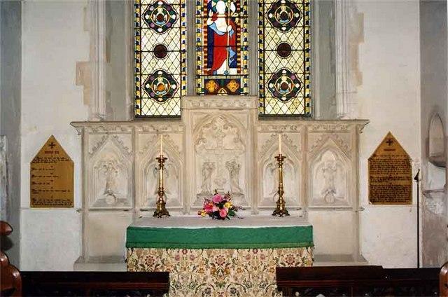 St Nicholas, Peper Harow, Surrey - High Altar & Reredos