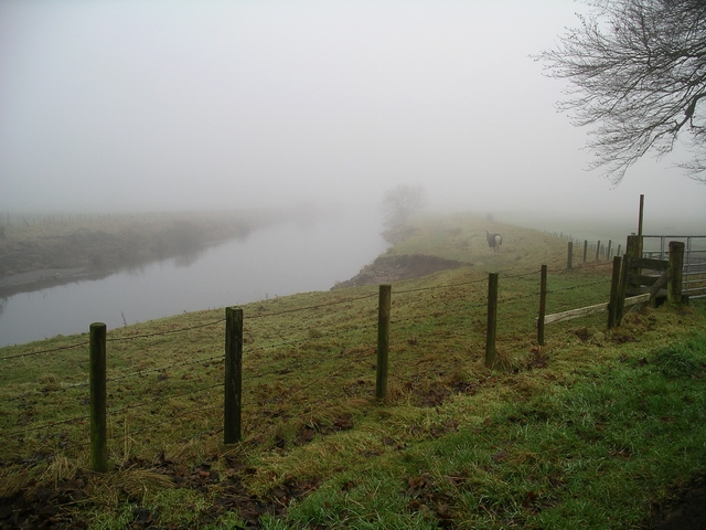 River Annan at Halleaths, Christmas Day 2007
