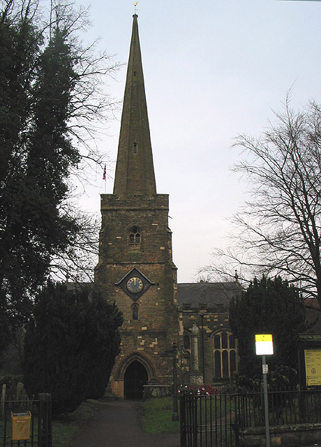 St. Mary's Church, Newent, at noon, Christmas Day 2007