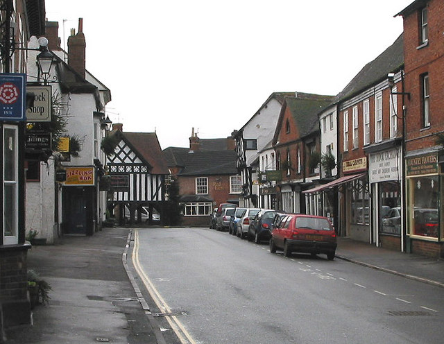Church St. Newent at noon, Christmas Day 2007