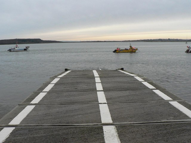 Mudeford: lifeboat station slipway