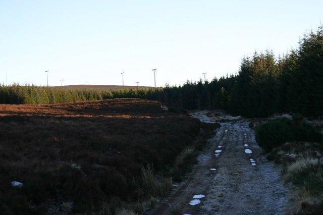 Track east of Coldburn