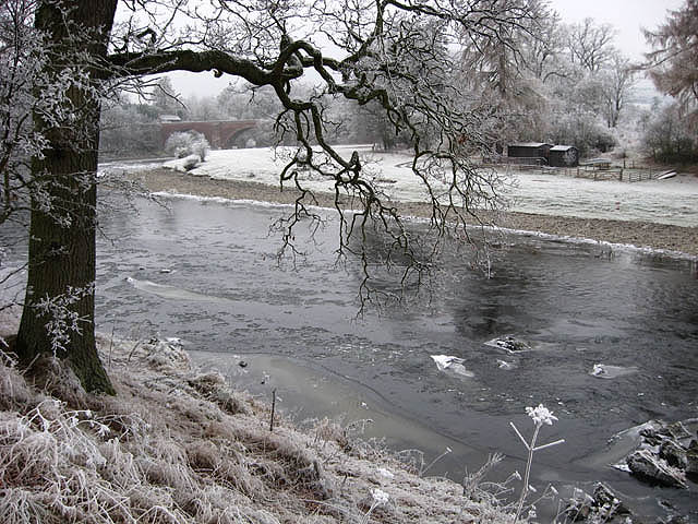 The River Tweed east of Lowood Bridge