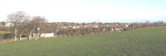 The town of Amlwch on a sunny Christmas Day