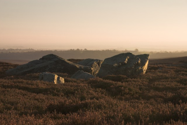 Large rocks on Spaunton Moor