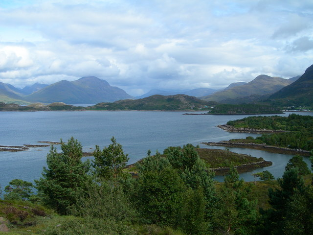 Loch Shieldaig and Glen Torridon beyond