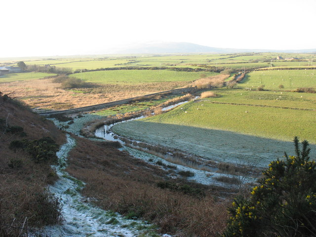 Bont Newydd and Afon Soch from the lead miners' path