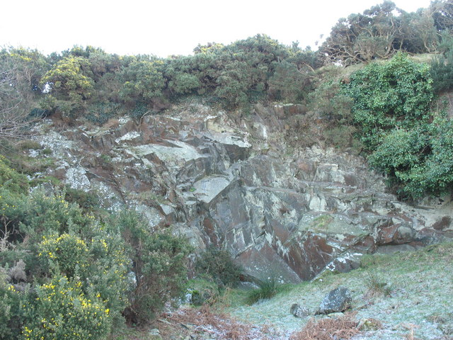A quarry face along side the miners' path