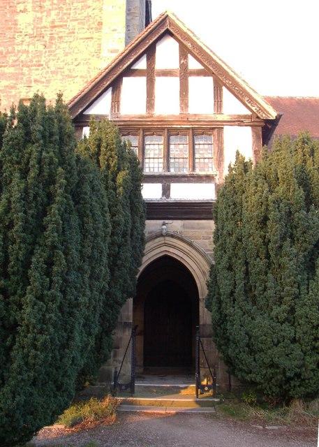 Porch of St Wilfrid's Church, Halton
