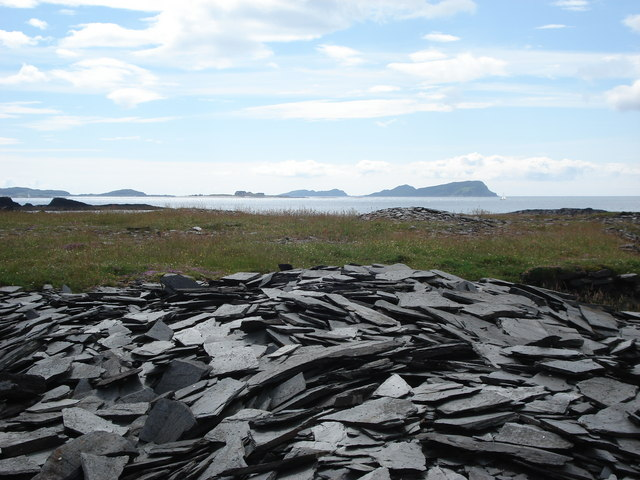 Slate north of Cullipool on Isle of Luing