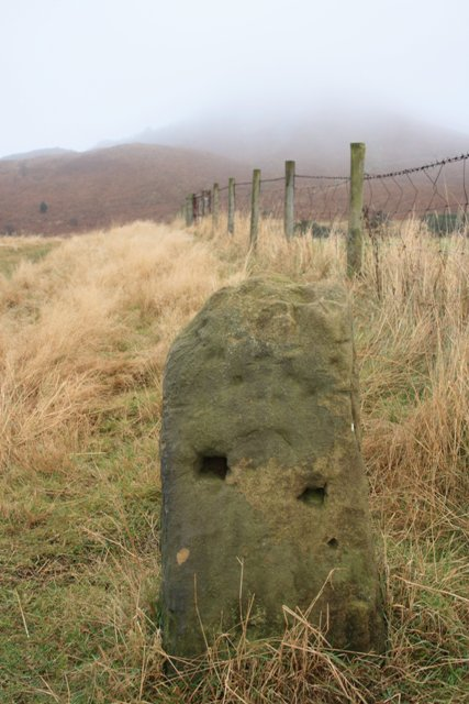 Stone Post on the Footpath up Roseberry