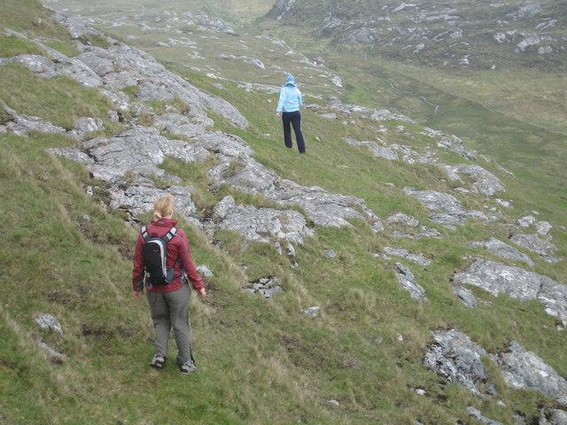 Descending from Beinn Sciathan