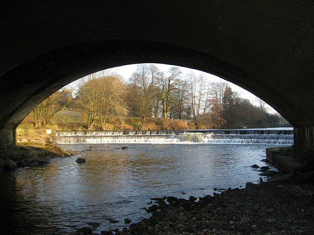 River Wenning under Hornby Bridge
