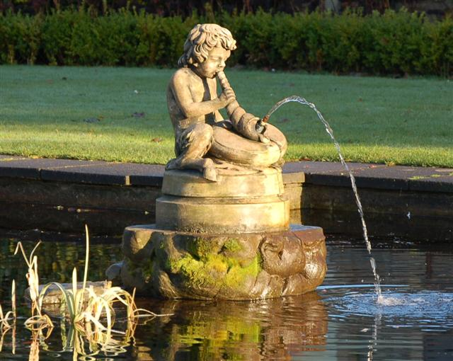 Statue in a pond