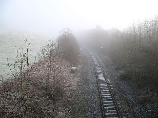 Shrewsbury to Swansea railway near Bucknell