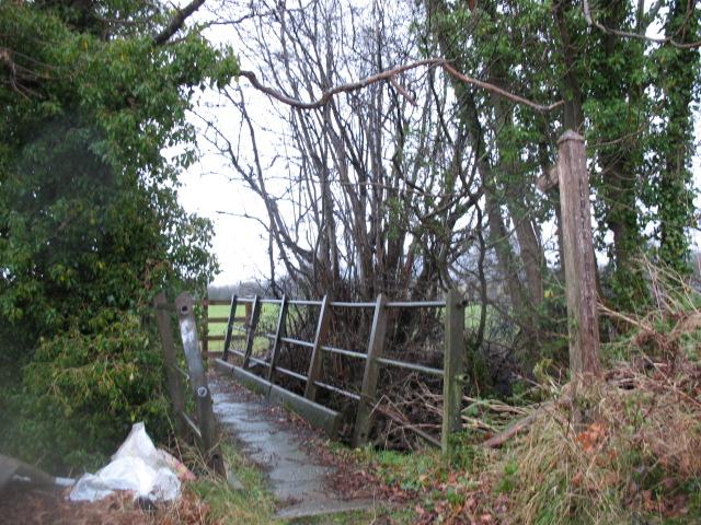 Footbridge at Malehurst