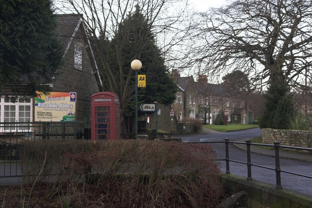 Phone Box and Caravan Park at Rosedale Abbey