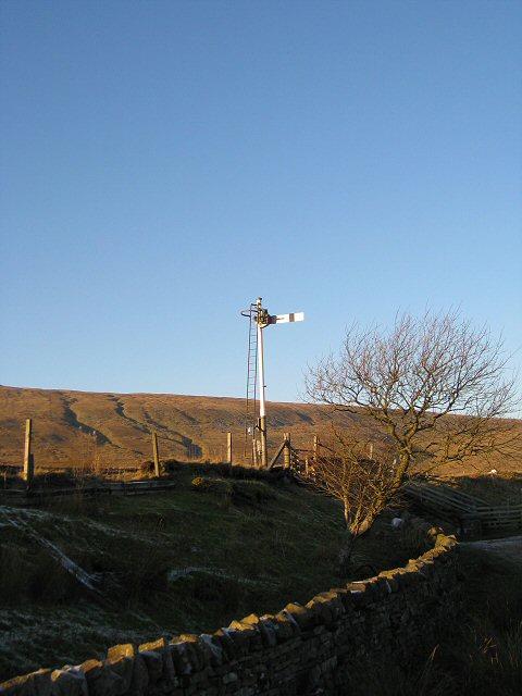 Down signal on Settle-Carlisle line