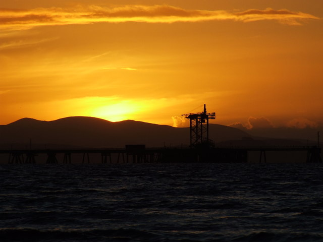 Inverkip Power Station jetty