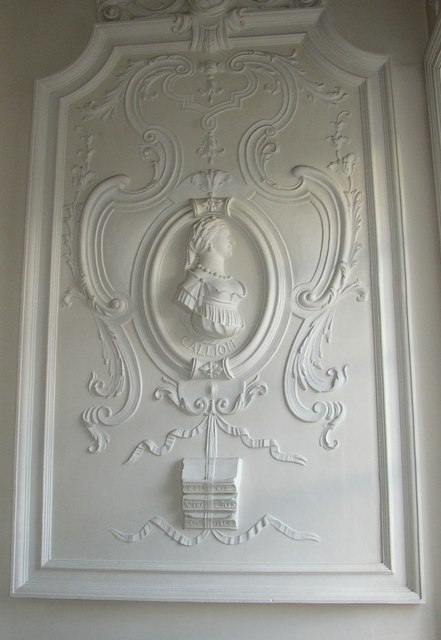Plasterwork in The Music Room, Sun Street	, Lancaster