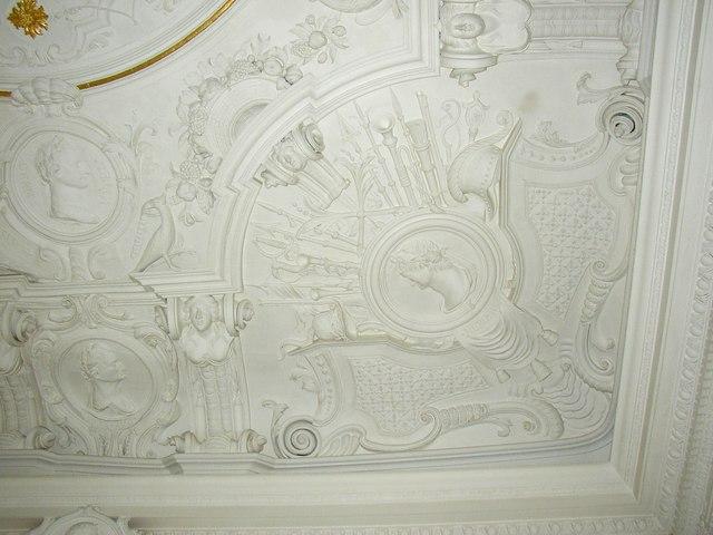 Plasterwork in The Music Room, Sun Street, Lancaster