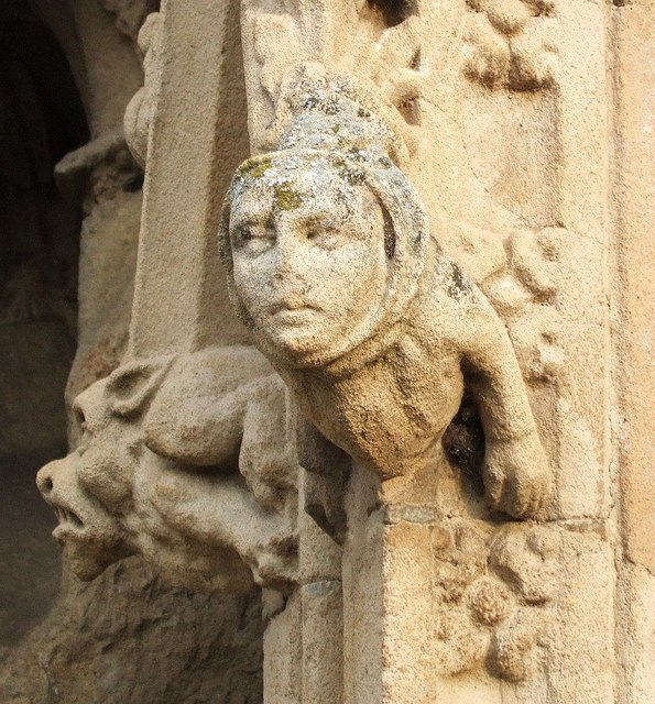 Figures on Exeter Cathedral