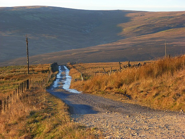 Track off the A686 below Hartside