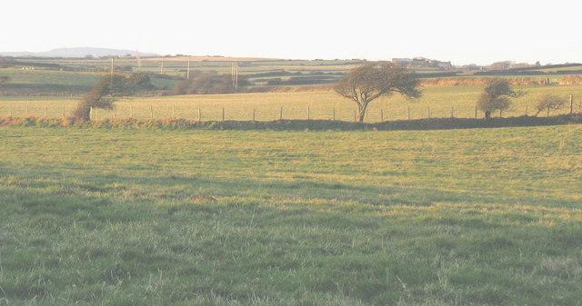Farmland west of Llangian