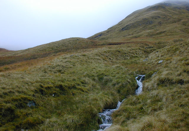 Mountain stream south of Aonach Meadhoin