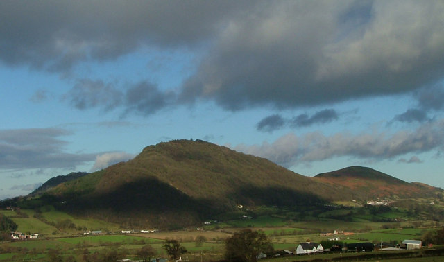 Moel y Golfa and Middletown Hill