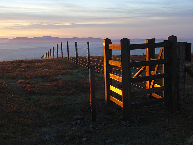 Gate on Little Knapside Hill