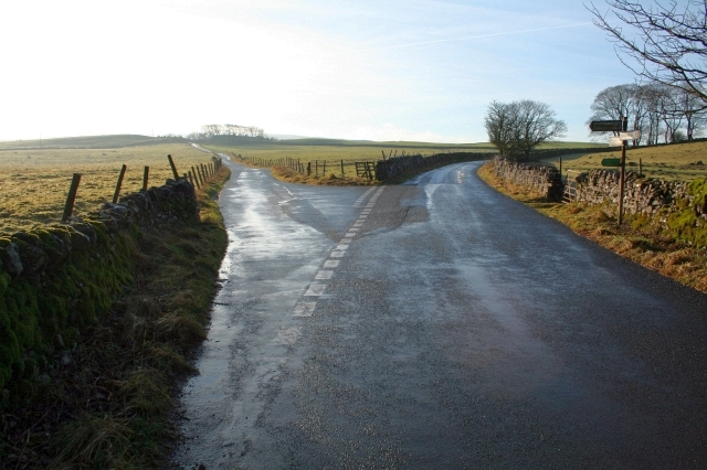 Road Junction West of Malham Tarn