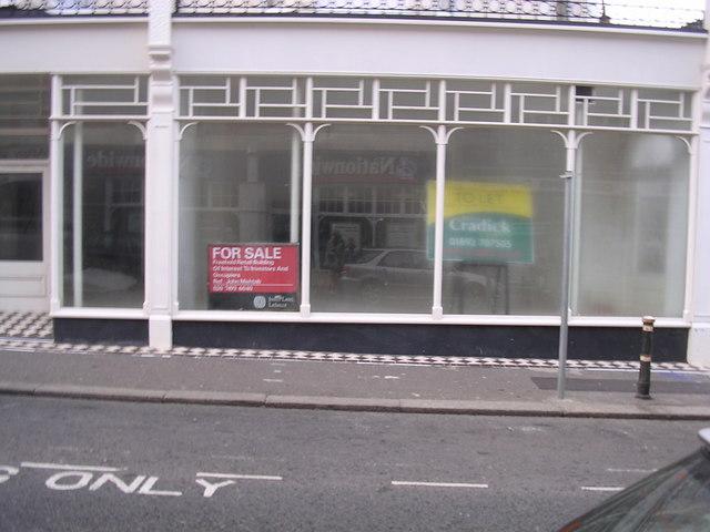 Empty shop premises, Bexhill-on-Sea