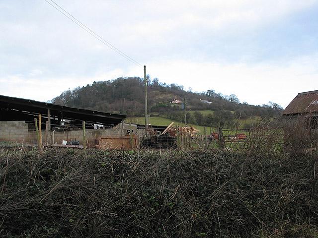 Farm buildings below Dinedor Camp