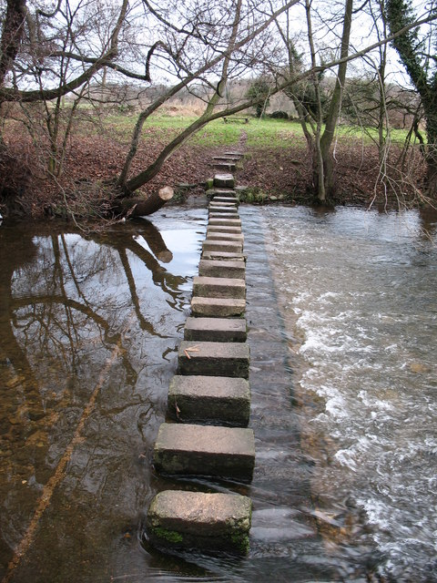 Stepping stones across the Skell.