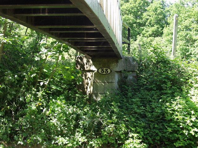 Llangollen Canal bridge no. 33W