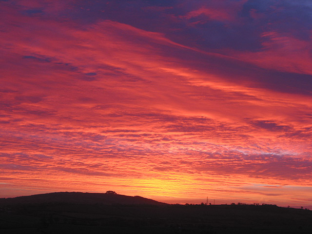 Boxing Day sunrise over May Hill