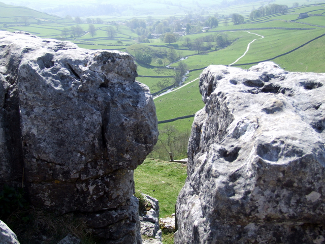 At  the top of Malham Cove
