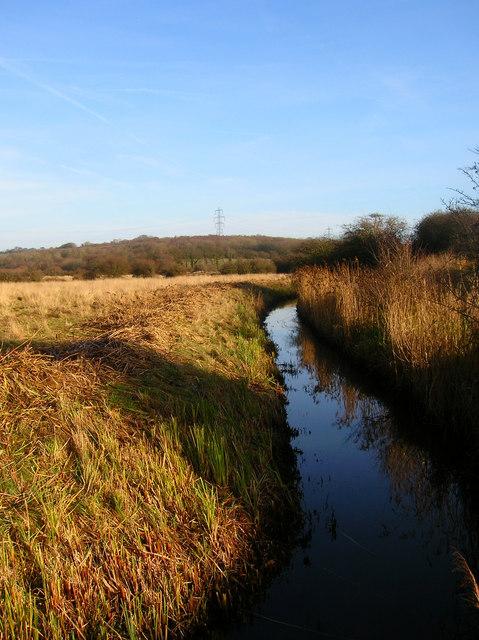 Drainage Ditch near Castle Croft