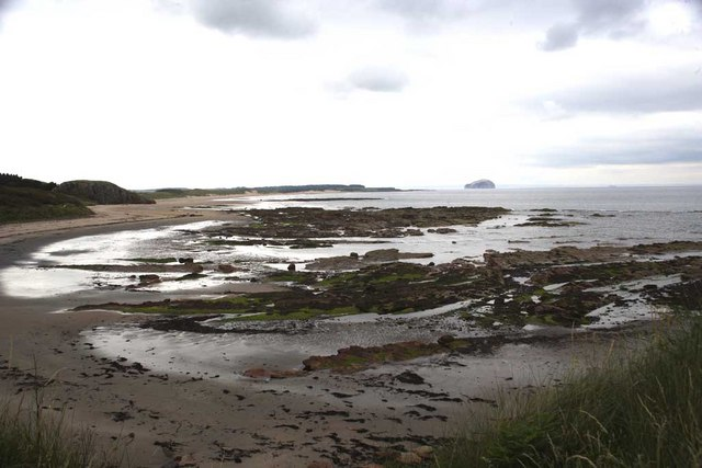 Looking west from Whitberry Point towards Ravensheugh sands