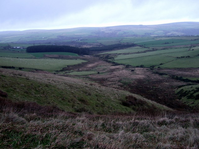 Headwaters of Afon Cwmau