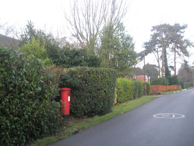 Post box in Wade Court Road
